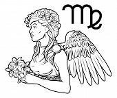 foto of virgo  - Illustration of Virgo the virgin zodiac horoscope astrology sign - JPG
