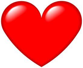 stock photo of heart shape  - illustration of heart shape with highlights - JPG