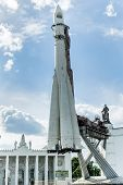 Vostok rocket. Exposition on VDNH. Moscow, Russia