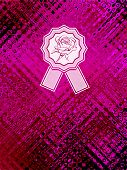 Background with abstract texture and rose emblem