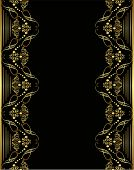 ornament gold frame