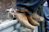 Rodeo Cowboy Old Boots & Spurs