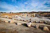 Rock quarry scene in Georgia