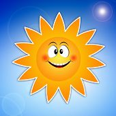 Funny Sun For Summer Time