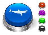 Shark Icons on Round Button Collection