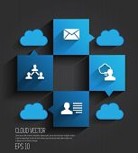 Cloud infographics vector illustration