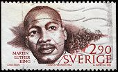 SWEDEN - CIRCA 1986: stamp printed in Sweden dedicated to Nobel Peace winner, showing Martin Luther