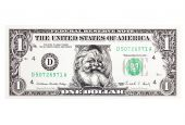 Santa Claus Dollar With Clipping Path