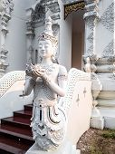 Thai Art, Angel Fusion Naka Statue On Staircase