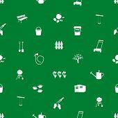 garden symbols seamless pattern eps10