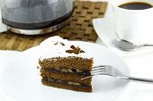 Chocolate Banana Cake And Coffee