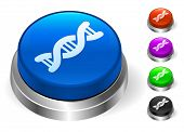 DNA Icons on Round Button Collection