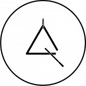 triangle musical instrument symbol