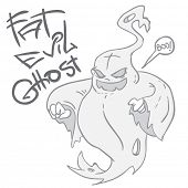 fat evil ghost cartoon