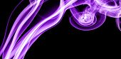 Purple smoke in the black Background