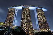 SINGAPORE - JAN 1, 2014: The Marina Bay Sands resort.  World's most expensive casino and famous Sing