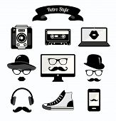 Vector Colourful Vintage Retro Hipster Style Media Icons