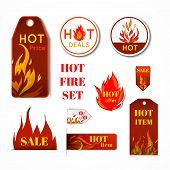 Fire label set