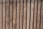Texture Of Old Fence Of Unpainted Boards