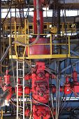 stock photo of drilling platform  - Blow Out Preventer  - JPG