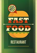 Fast food poster design. Vector illustration.