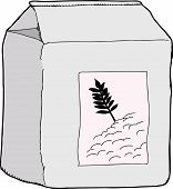 Isolated Bag Of Flour