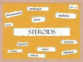 Steroids Corkboard Word Concept