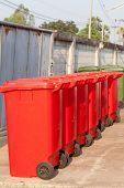 Large trash cans (garbage bins)