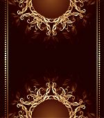 Jewelry Design On A Dark Brown Background