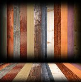 Colorful Wood Planks In Room Interior