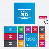 Full hd widescreen tv. High-definition symbol.