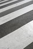 stock photo of zebra crossing  - Zebra crossing without anyone crossing it - JPG