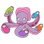 An image of an octopus baby nanny.