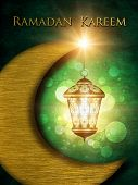 Ramadan Kareem Background With Shiny Lantern