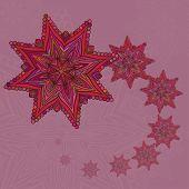 Vector Octagonal Stars Pattern