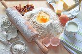 Baking cake ingredients