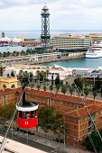 Barcelona, Spain, Cable Car Tourists
