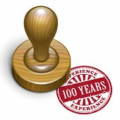 100 Years Experience Grunge Rubber Stamp