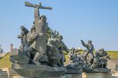 Soviet era WW2 memorial in Kiev Ukraine