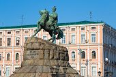 stock photo of kiev  - The Khmelnytsky Monument in Kiev - JPG