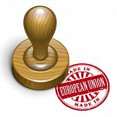 Made In European Union Grunge Rubber Stamp