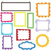 Colorful Digital Frame set