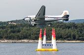 Rovinj, Croatia - April 13 2014 Exibition Airplanes At Red Bull Air Race Event