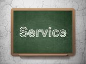 Business concept: Service on chalkboard background