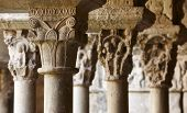 Spain. Catalonia. Girona. Romanesque Capitals. Sta. Maria Cathedral Cloister.