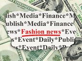 News concept: Fashion News on Money background