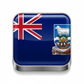 Metal  icon of Falkland Islands
