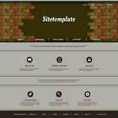 Website Template with Abstract Pattern Design