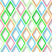 Abstract Bright Colorful Geometric Seamless Background With Diamond Grid. Eps10