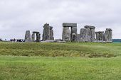 STONEHENGE, WILTSHIRE, UK - AUGUST 17: The ancient archeological site of Stonehenge was added to the